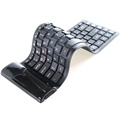 Teclado Bluetooth Enrollable - Negro