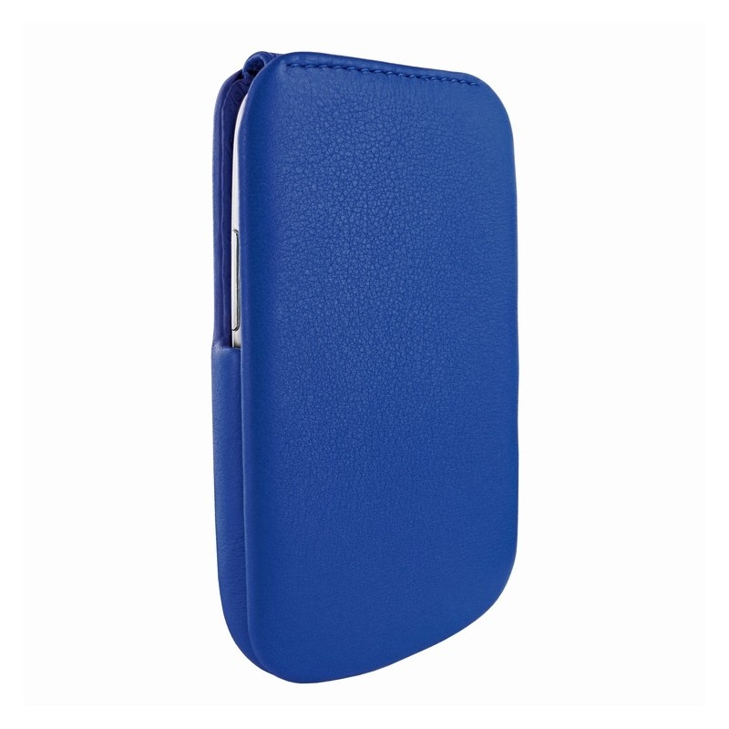 Piel frama imagnum funda de cuero para samsung galaxy s3 mini i8190 azul - Samsung s3 mini fundas ...