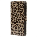 Funda para Alcatel One Touch Pop C7 - Estilo Cartera - Leopardo