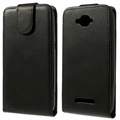 Funda Vertical con Tapa para Alcatel One Touch Pop C7 - Negro